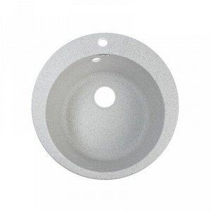 Мойка кухонная из камня ZETT lab. 5/Q10, d=495 мм, матовая, светло-серая