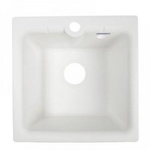 Мойка кухонная из камня GRANMILL 18, 415х415х200 мм, белая