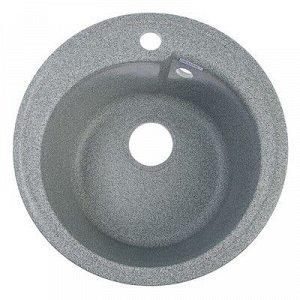 Мойка кухонная из камня GRANMILL 19, d=440 мм, глубина 18 см, темно-серая