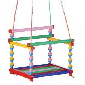Качели детские подвесные, пластмассовые, сиденье 33?27см, с пластмассовым кольцом