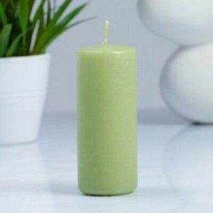 Свеча- цилиндр, парафиновая, фисташковая, 4?10 см