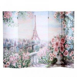 """Ширма """"Картина маслом. Розы и Париж"""", 250 ? 160 см"""