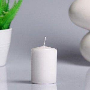 Свеча - цилиндр парафиновая, белый перламутр, 4?6 см