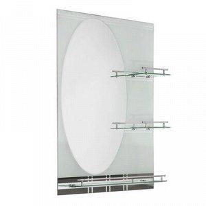 Зеркало в ванную комнату двухслойное 80?60 см Ассоona A602, 3 полки