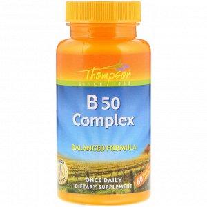 Thompson, Комплекс B50, 60 капсул