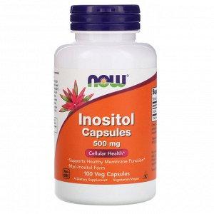 Now Foods, Инозитол в капсулах, 500 мг, 100 растительных капсул