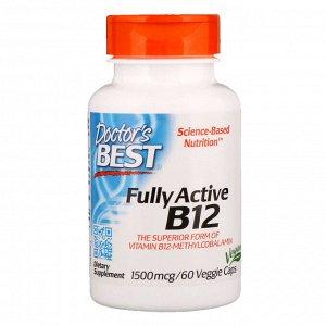 Doctor&#x27 - s Best, Best, Активный витамин B12, 1500 мкг, 60 растительных капсул