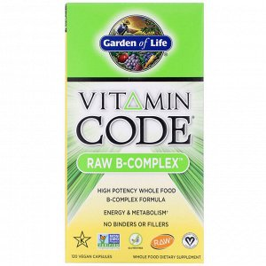 Garden of Life. Vitamin Code. RAW B-Complex. 120 Vegan Capsules