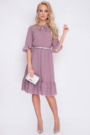 Платье Платье из креп шифона.Ремень в комплект не входит. 30% вискоза 65% п/э,5% эластан