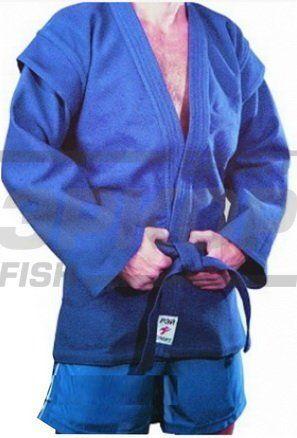 Куртка для самбо Рэй-спорт рост 170-200 500-900 гр/м2 син (х7)