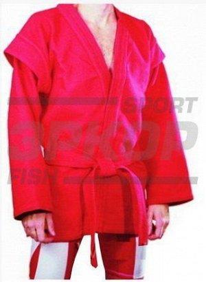 Куртка для самбо Рэй-спорт рост 170-200 500-900 гр/м2 красн (х8)