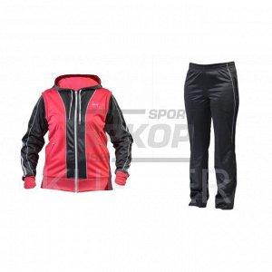 Костюм спортивный Kupper жен капюшон молния розовый-графит (х6)
