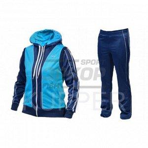 Костюм спортивный Kupper жен капюшон молния бирюза-синий (х1)