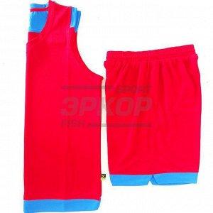 Форма баскетбольная майка шорты красно-син (х5)