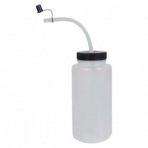 Бутылка для воды A&R с изогнутой поилкой прозрачная 1000 мл