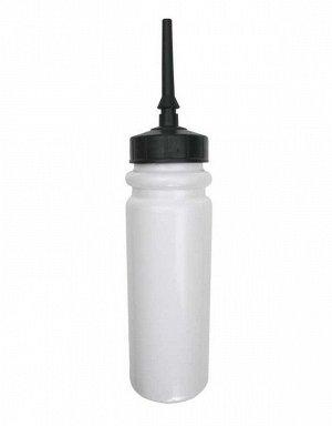 Бутылка для воды A&R с поилкой 1000 мл белая