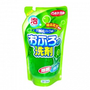 Rocket Soap Средство чистящее пенящееся для ванны с ароматом зеленого чая и трав, 350 мл
