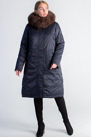 Пальто дешевле на 2000 руб! ! Парка женская, утеплитель холлофайбер, натуральный мех песца Ткань верхаПолиэстер Длина102см Цвет: капучино, т-синий Парка линейки size +с натуральным тонированным мехом