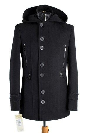 Пальто мужское утепленное (Рост 176). Цвет Черный