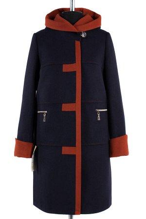 *Пальто женское демисезонное. Цвет Сине-горчичный