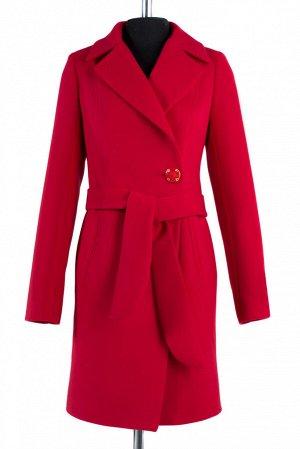 *Пальто женское демисезонное (пояс). Цвет Вишня