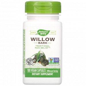 Nature&#x27 - s Way, Willow Bark, 800 mg, 100 Vegan Capsules