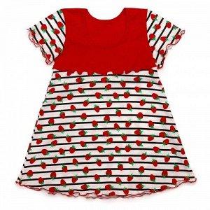 80-8 кт платье на кокетке из кулирного полотна