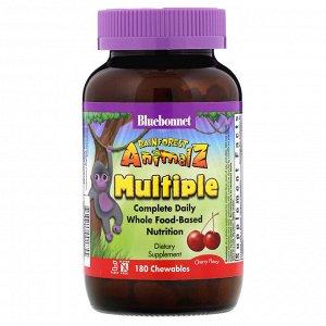 Bluebonnet Nutrition, Rainforest Animalz, Complete Daily, Multiple, Cherry Flavor, 180 Chewables