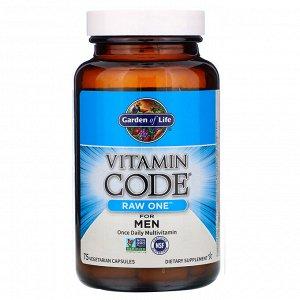Garden of Life, Vitamin Code, RAW One, мультивитаминная добавка из сырых ингредиентов для мужчин (для приема 1раз в день), 75в