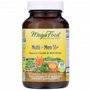MegaFood, Мультивитамины для мужчин старше 55 лет, 60 таблеток
