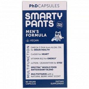 SmartyPants, PhD Capsules, формула для мужчин, 60 растительных капсул