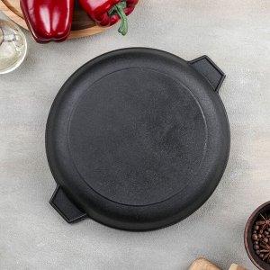 Сковорода 24 см, с двумя ушками, с алюминиевой крышкой