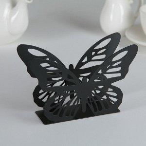 Салфетница «Бабочка», 13,5?4?9 см, цвет чёрный