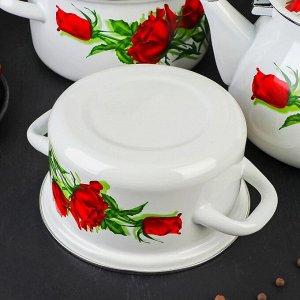 Набор посуды «Андорра белая», 4 предмета: кастрюли 1,5 л, 2,3 л, 3 л, чайник 3 л