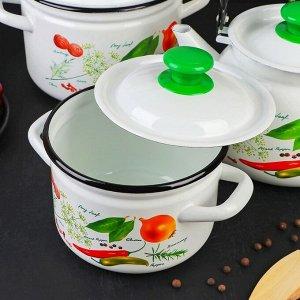 Набор посуды «Специи», 4 предмета: кастрюли 2 л, 3 л, 4 л, чайник 3 л