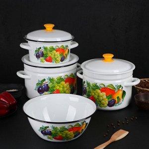 Набор посуды «Джем», 4 предмета: кастрюли 3 л, 6 л, 8 л, миска 4 л
