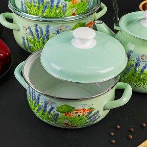 Набор посуды «Тоскана», 4 предмета: кастрюли 2 л, 3 л, 4 л, чайник 3 л