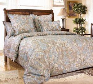 Комплект постельного белья 2-спальный, поплин (Кашмир, коричневый)