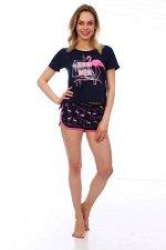 Костюм женский, модель 161, трикотаж (Фламинго)