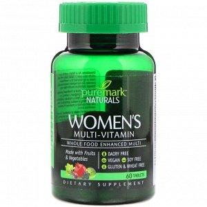 PureMark Naturals, Женские мультивитамины, 60 таблеток