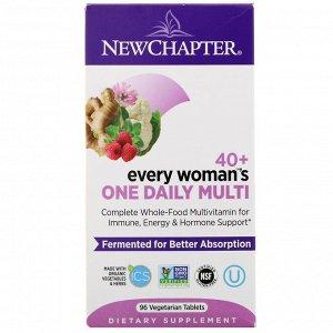 New Chapter, 40+ женские витамины, 96вегетарианских таблеток
