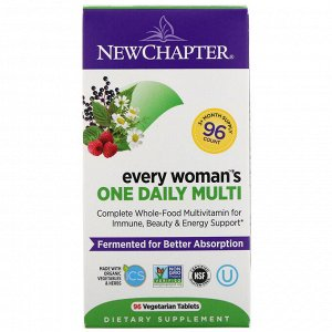 New Chapter, Every Woman's One Daily Multi, 96 вегетарианских таблеток