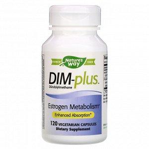 Nature&#x27 - s Way, DIM-plus, метаболизм эстрогенов, 120 вегетарианских капсул