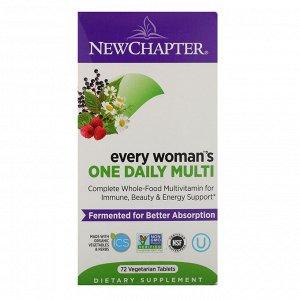 New Chapter, Every Woman, ежедневная мультивитаминная добавка для женщин, 72 вегетарианских таблетки