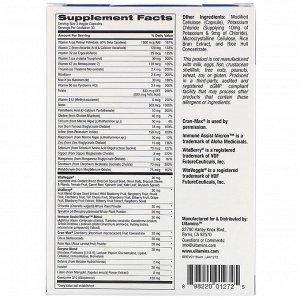 Ultamins, Женский мультивитаминный комплекс с CoQ10, грибами, ферментами, овощами и ягодами, 60 растительных капсул