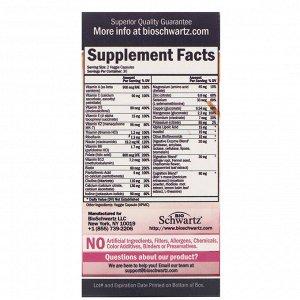 BioSchwartz, Advanced Formula, мультивитамины для женщин в возрасте 50+, 60 растительных капсул