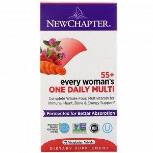 New Chapter, 55+ Every Woman&#x27 - s, ежедневные мультивитамины для женщин, 72 вегетарианских таблетки