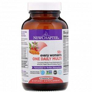New Chapter, 55+ Every Woman's, ежедневные мультивитамины для женщин, 72 вегетарианских таблетки
