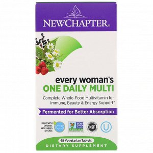 New Chapter, Препарат Every Woman's One Daily Multi, 48 таблеток