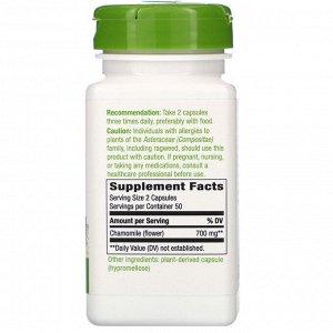 Nature&#x27 - s Way, Chamomile Flower, 700 mg, 100 Vegan Capsules